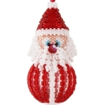 Santa Bauble Christmas Ornament Pattern