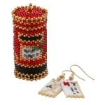 Santa Post Box Ornament and Letter Earrings