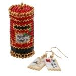 Santa Post Box Ornament and Letter Earrings