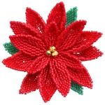 3D Christmas Poinsettia Brooch Pattern