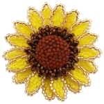 Sunflower Flower Brooch Pattern