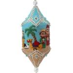 Large 3D Beadwork Christmas Nativity Ornament