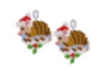 Christmas Armadillo Earring Bead Pattern By ThreadABead