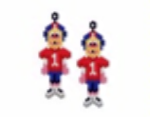 American Footballer Earring Pattern Only