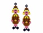 Brownie Girl Earring Pattern Only