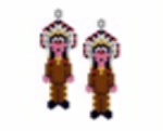 American Indian Chief Earring Pattern Only