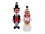 Bride and Groom Earring Pattern Only