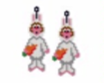 Rabbit Costume Earring Pattern Only