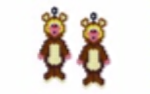 Teddy Costume Earring Pattern Only