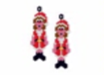 Santa Costume Earring Pattern Only