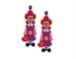 Red Hat Lady Earring Pattern Only