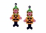 Pumpkin Costume Earring Pattern Only