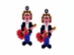 Guitarist Earring Pattern Only