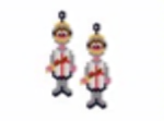 St George Knight Earring