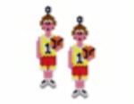 Basket Ball Player Earring Pattern Only