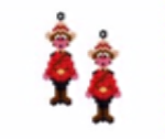 Canadian Mountie Earring Pattern Only
