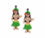 Hawaiian Hoola Hula Girl Earring Pattern Only