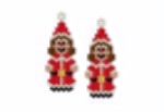 Santa Girl Earrings Pattern Only